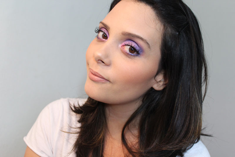 IMG 0816 Tutorial de Maquiagem: Super Roxo