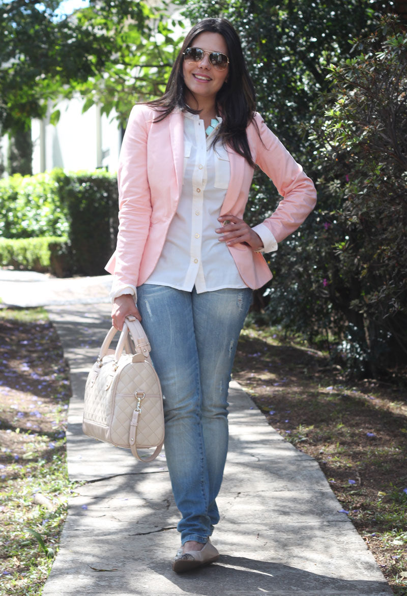 look blazer rose jeans claudinha stoco 1 Look Blazer Rosê!