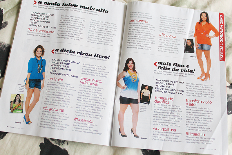 revista shape 1 Eu na Revista SHAPE!